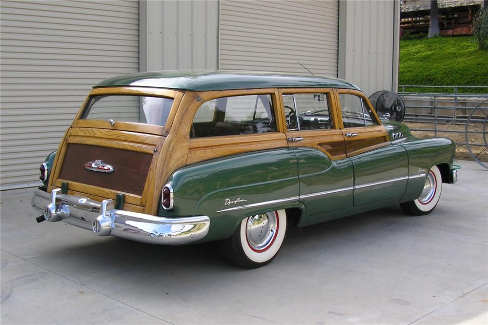 1950 BUICK ROADMASTER WOODY WAGON - Rear 3/4 - 130233