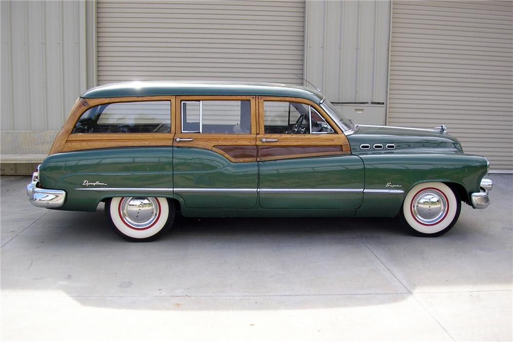 1950 BUICK ROADMASTER WOODY WAGON - Side Profile - 130233