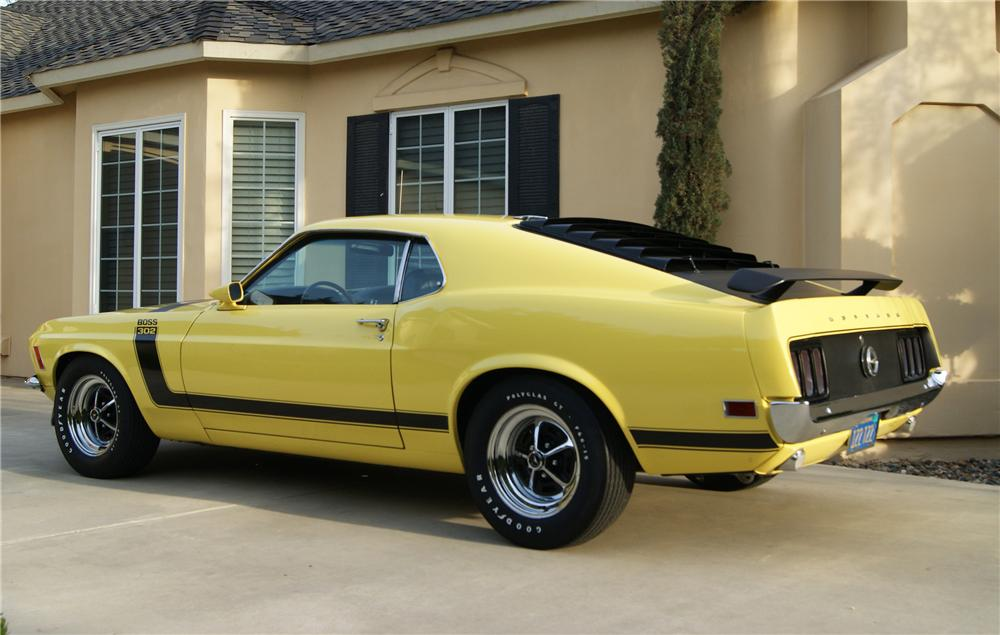 1970 FORD MUSTANG BOSS 302 FASTBACK - Rear 3/4 - 130237