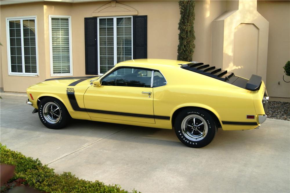 1970 FORD MUSTANG BOSS 302 FASTBACK - Side Profile - 130237