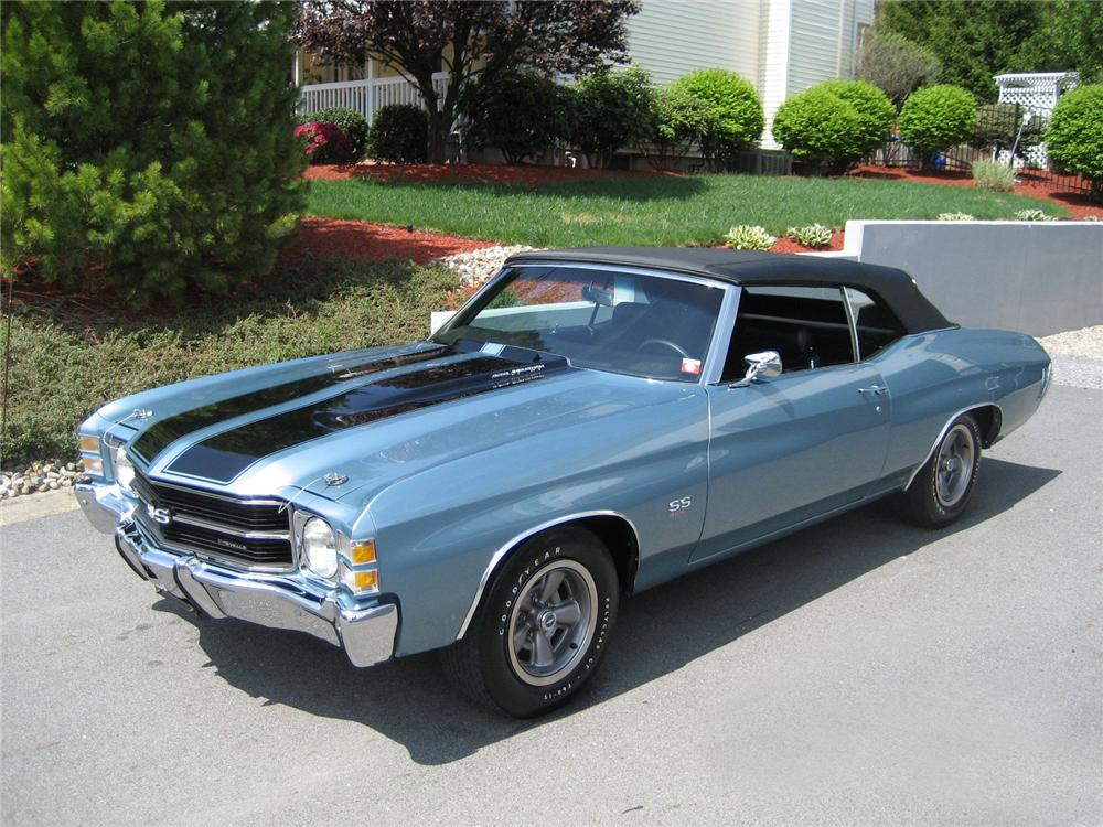 1971 CHEVROLET CHEVELLE SS LS5 CONVERTIBLE - Front 3/4 - 130254