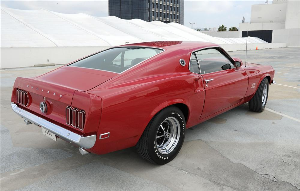 1969 FORD MUSTANG BOSS 429 FASTBACK - Rear 3/4 - 130256