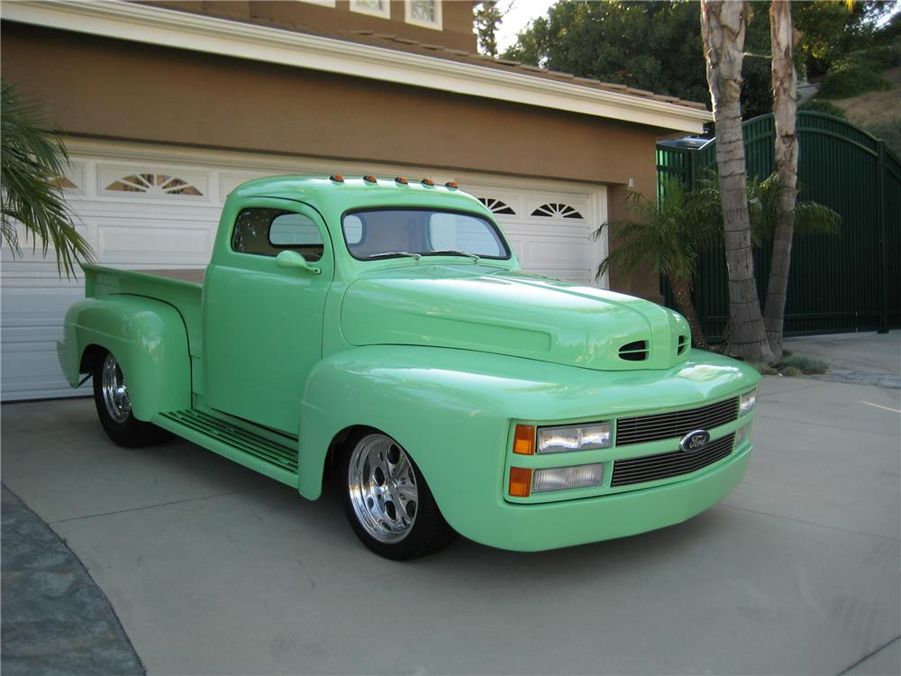 1948 FORD F-1 CUSTOM PICKUP - Front 3/4 - 130258
