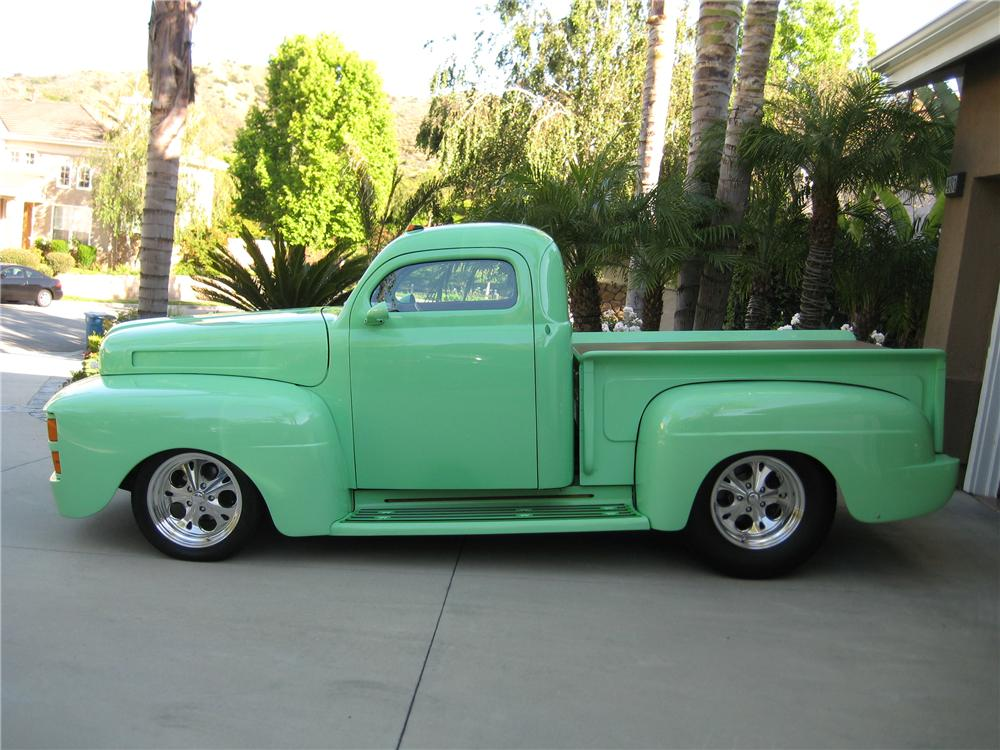 1948 FORD F-1 CUSTOM PICKUP - Side Profile - 130258