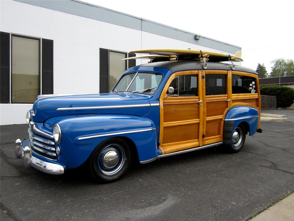 1948 FORD CUSTOM WOODY WAGON - Side Profile - 130278