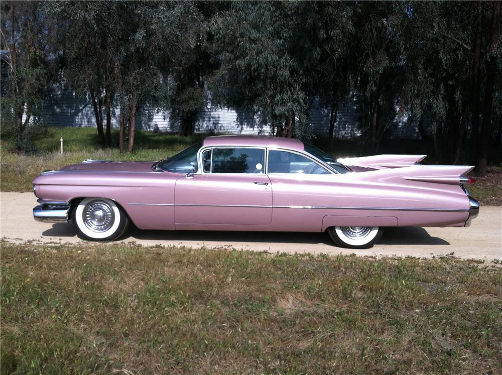 1959 CADILLAC COUPE DE VILLE 2 DOOR COUPE - Side Profile - 130286