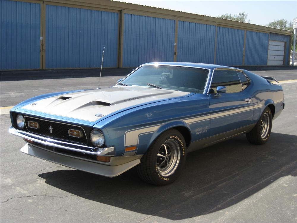 1971 FORD MUSTANG BOSS 351 FASTBACK - Front 3/4 - 130287