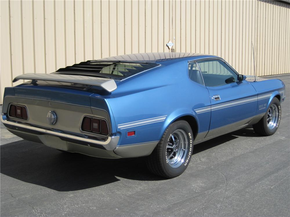 1971 FORD MUSTANG BOSS 351 FASTBACK - Rear 3/4 - 130287