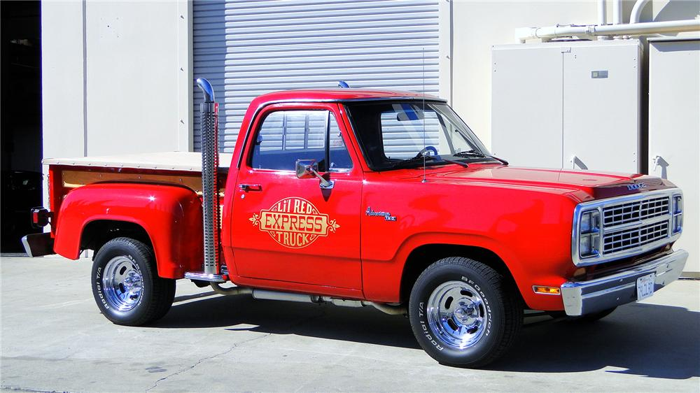 1979 DODGE LIL RED EXPRESS PICKUP - Front 3/4 - 130296