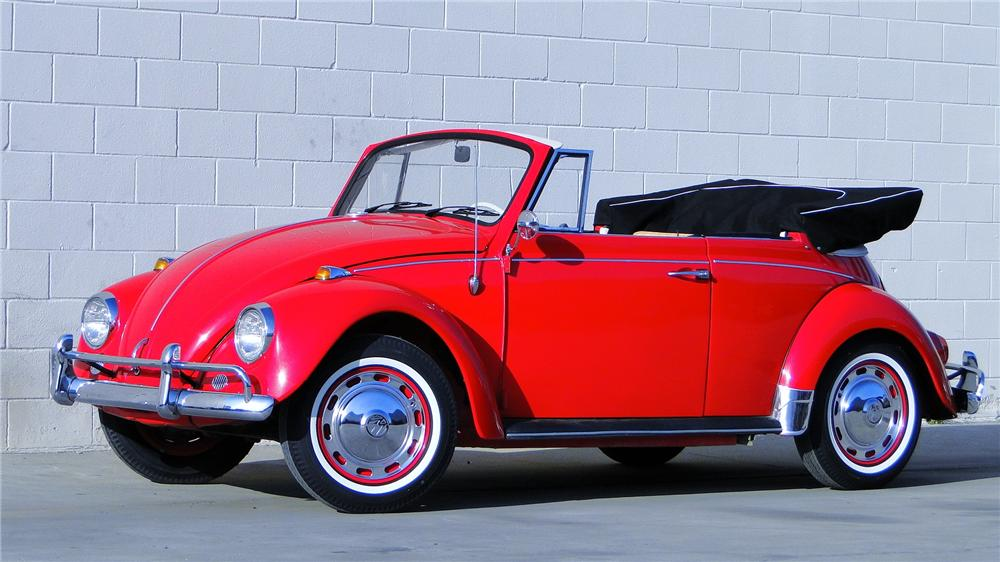 1967 VOLKSWAGEN BEETLE CONVERTIBLE - Side Profile - 130299