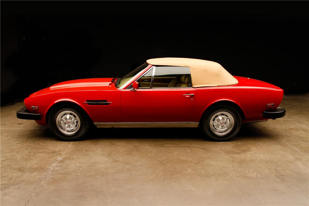 1982 ASTON MARTIN VOLANTE CONVERTIBLE - Side Profile - 130304