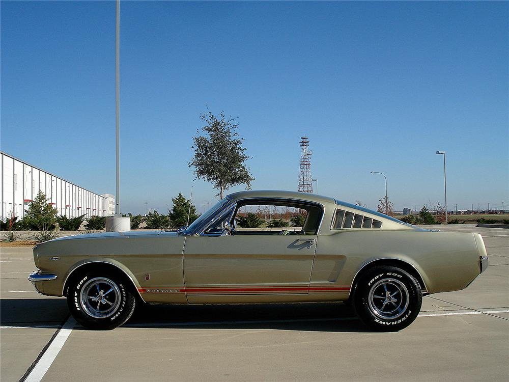 1966 FORD MUSTANG GT FASTBACK - Side Profile - 130307