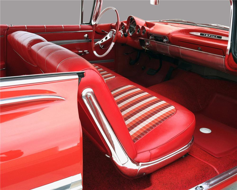 1959 CHEVROLET IMPALA 2 DOOR COUPE - Interior - 130317