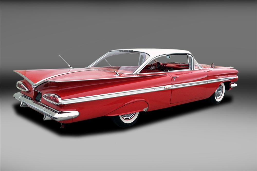 1959 CHEVROLET IMPALA 2 DOOR COUPE - Rear 3/4 - 130317