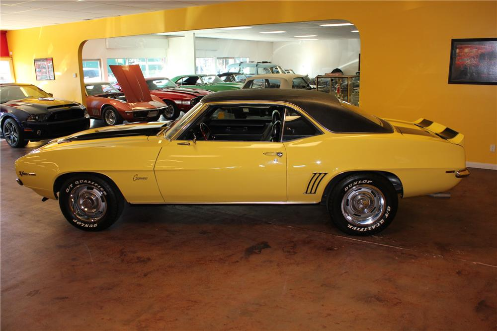 1969 CHEVROLET CAMARO 2 DOOR COUPE - Side Profile - 130332