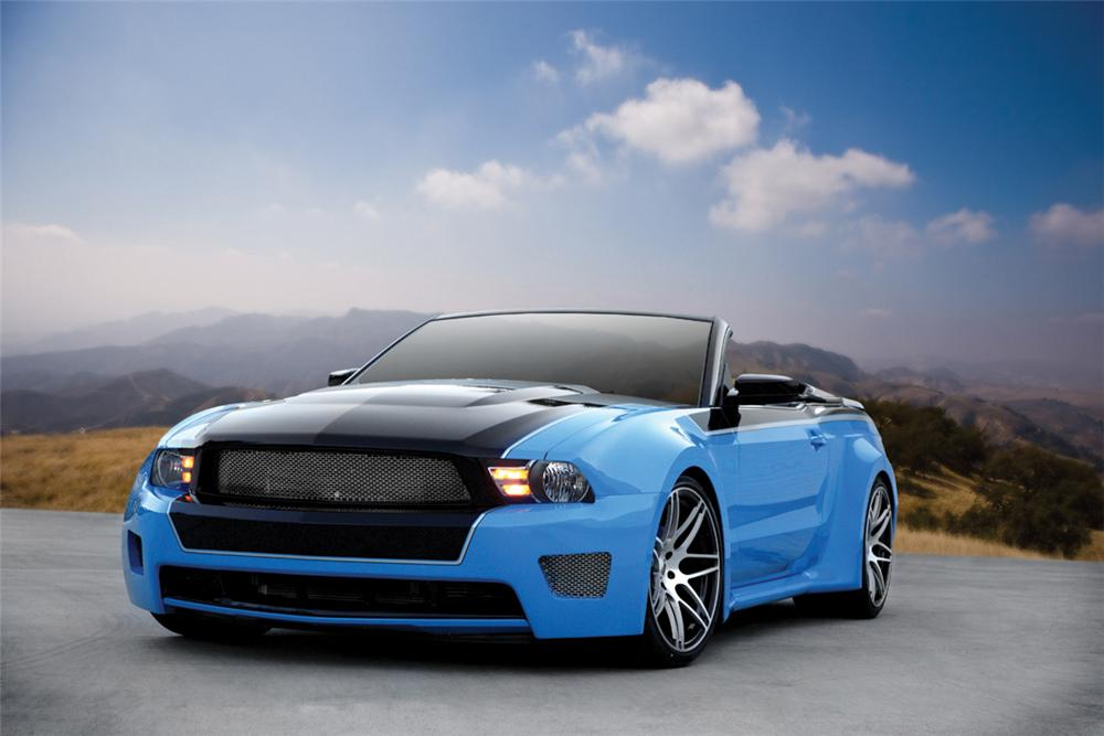 2010 ford mustang custom convertible 130344. Black Bedroom Furniture Sets. Home Design Ideas