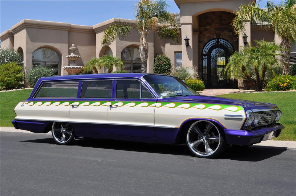 1963 CHEVROLET IMPALA CUSTOM WAGON - Side Profile - 130346