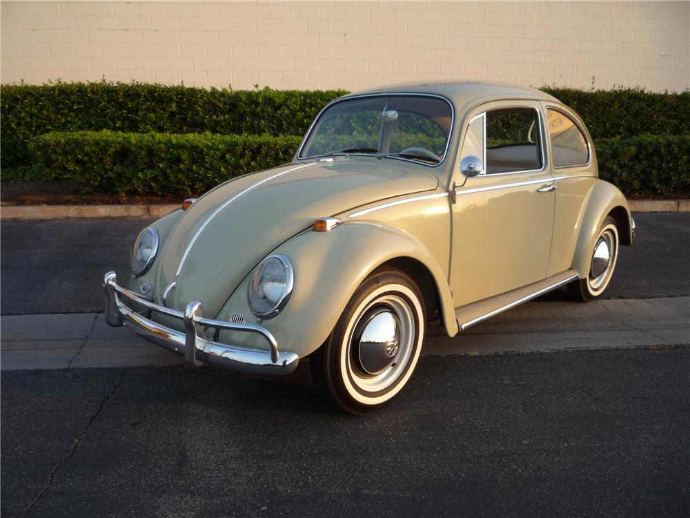 1965 VOLKSWAGEN BEETLE 2 DOOR SEDAN - Front 3/4 - 130355