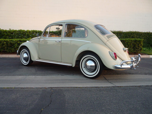 1965 VOLKSWAGEN BEETLE 2 DOOR SEDAN - Rear 3/4 - 130355