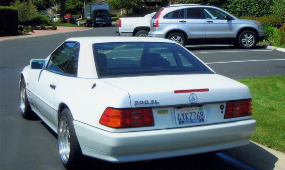 1992 MERCEDES-BENZ 500SL CONVERTIBLE - Rear 3/4 - 130357