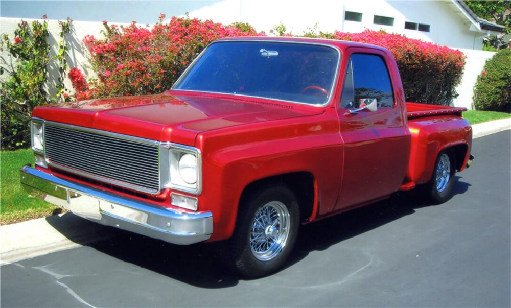 1976 CHEVROLET SHORT BED CUSTOM PICKUP - Front 3/4 - 130358