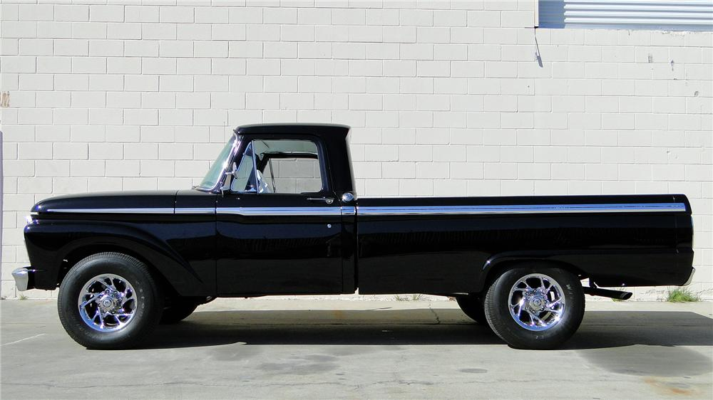 1966 FORD F-250 CUSTOM PICKUP - Side Profile - 130371