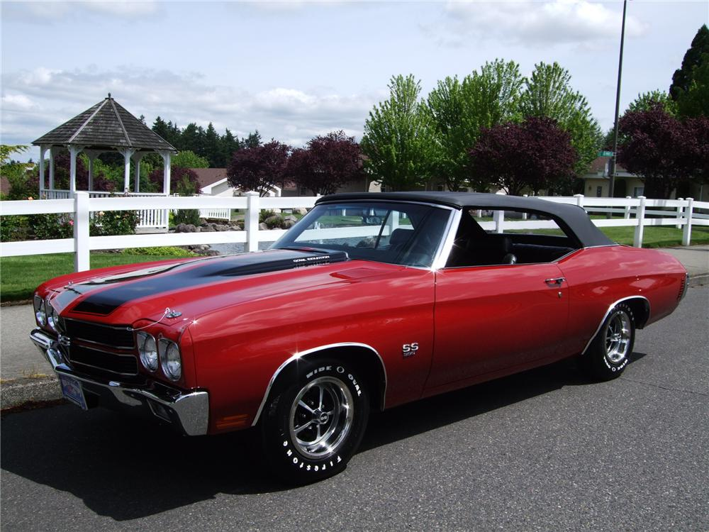 1970 CHEVROLET CHEVELLE SS 396 CONVERTIBLE - Side Profile - 130390