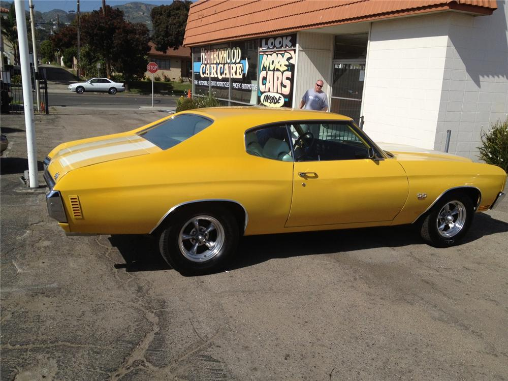 1970 CHEVROLET CHEVELLE CUSTOM COUPE - Side Profile - 130393