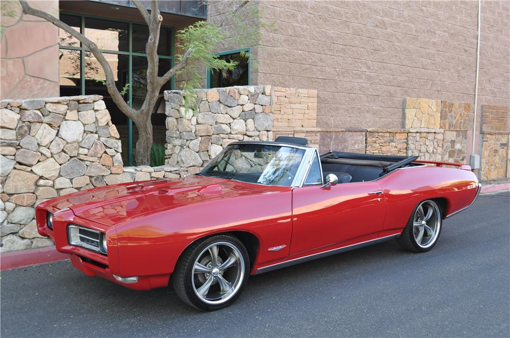 1968 PONTIAC LEMANS CUSTOM CONVERTIBLE - Front 3/4 - 130409