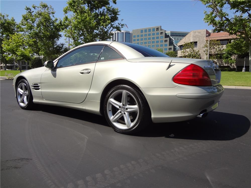 2003 MERCEDES-BENZ 500SL 2 DOOR CONVERTIBLE - Rear 3/4 - 130413