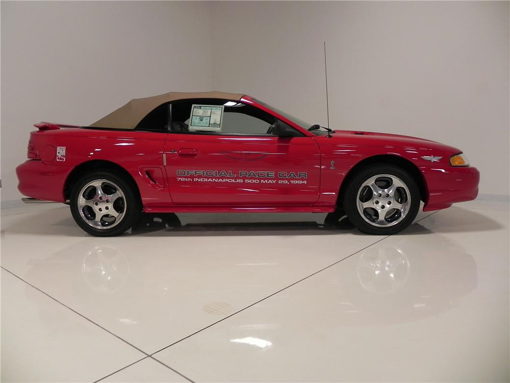 1994 FORD MUSTANG COBRA PACE CAR CONVERTIBLE - Side Profile - 130415