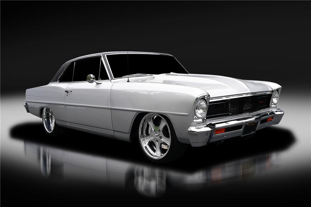 1966 CHEVROLET CHEVY II NOVA CUSTOM 2 DOOR COUPE - Front 3/4 - 130421