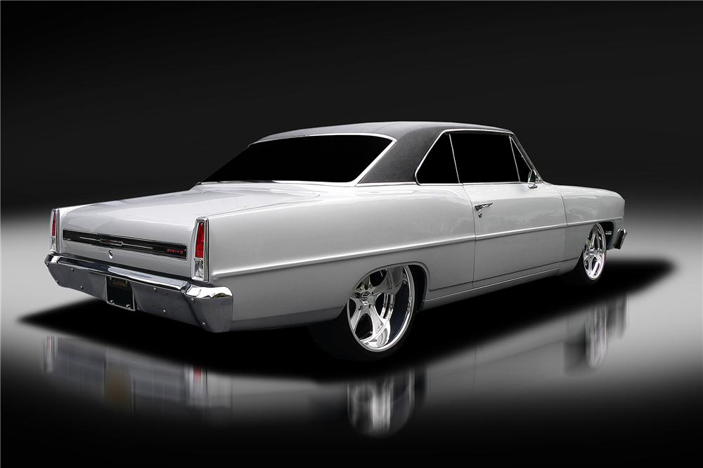 1966 CHEVROLET CHEVY II NOVA CUSTOM 2 DOOR COUPE - Rear 3/4 - 130421