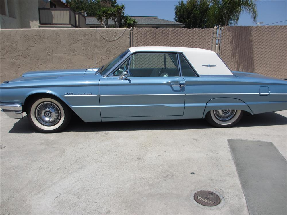 1964 FORD THUNDERBIRD 2 DOOR COUPE - Side Profile - 130423