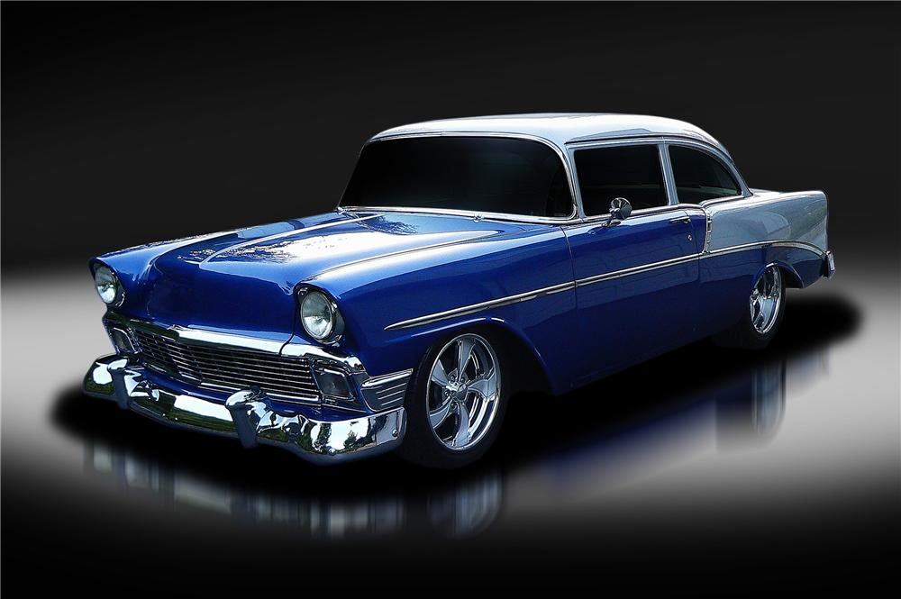 1956 CHEVROLET 210 CUSTOM 2 DOOR SEDAN - Front 3/4 - 130426