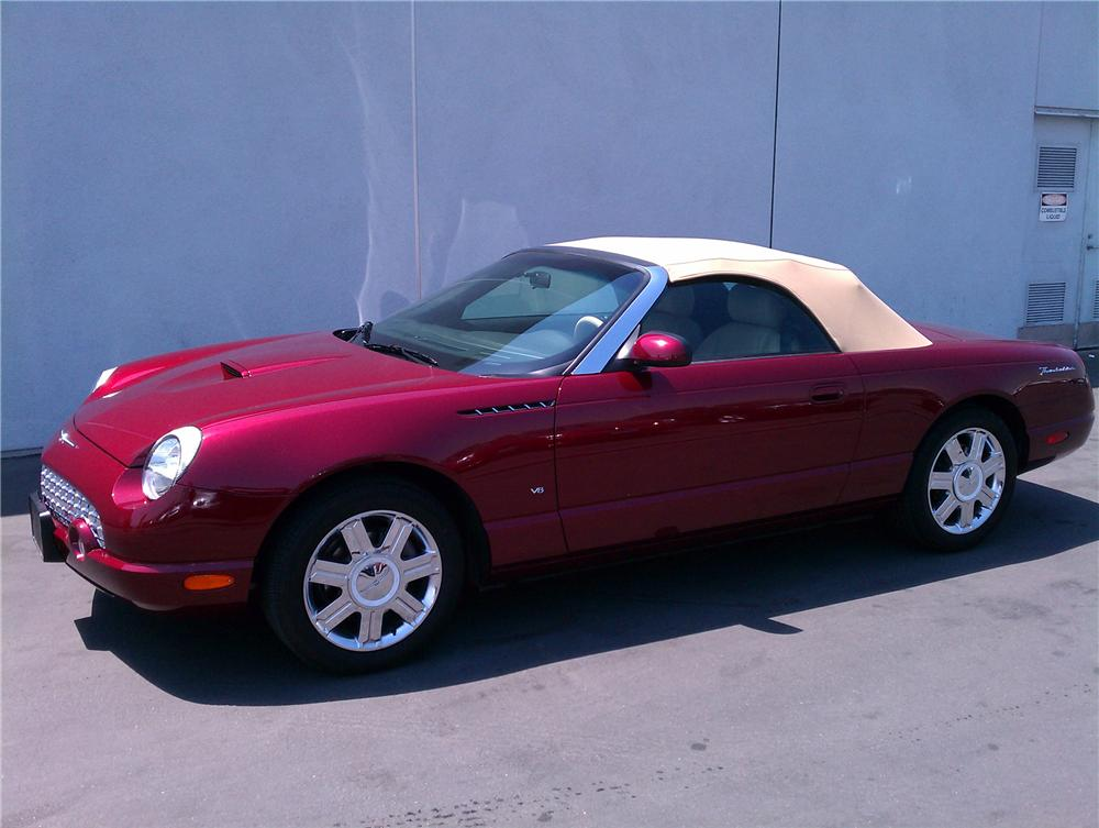 2004 FORD THUNDERBIRD CONVERTIBLE - Side Profile - 130427
