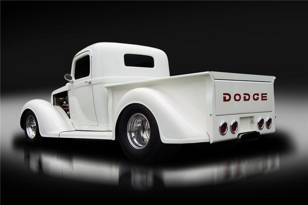 1936 DODGE BROTHERS CUSTOM PICKUP - Rear 3/4 - 130428