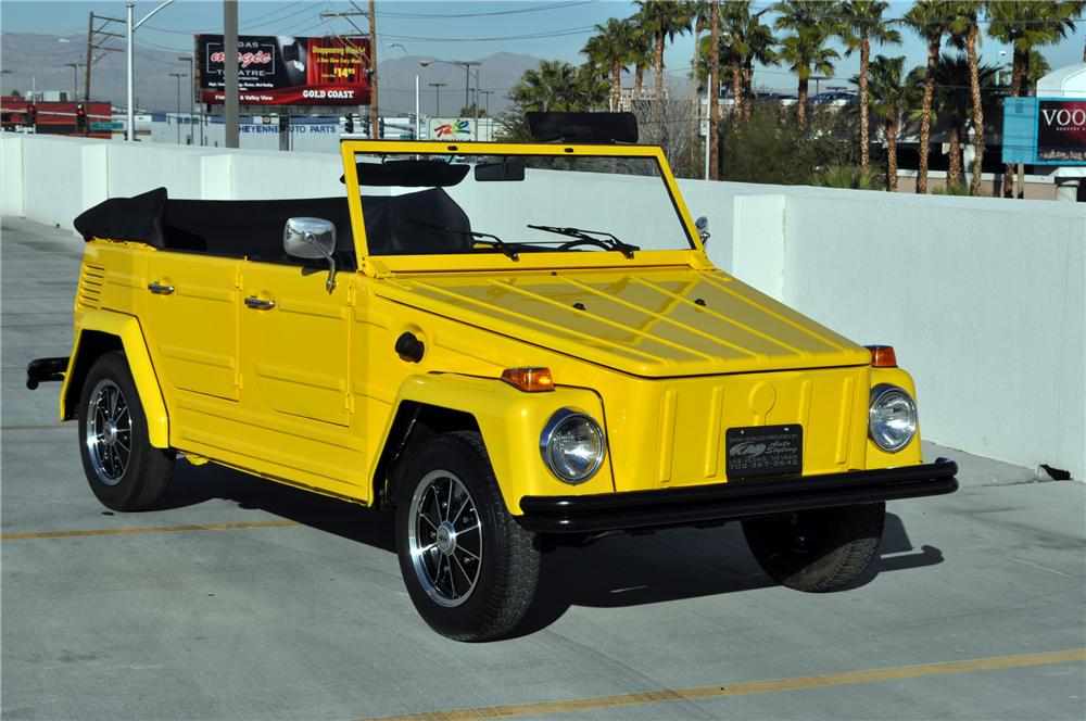 1973 VOLKSWAGEN THING CONVERTIBLE - Front 3/4 - 130438