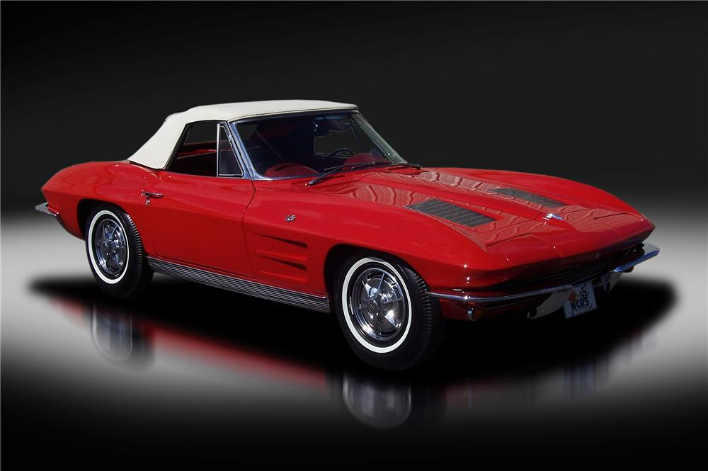 1963 CHEVROLET CORVETTE CONVERTIBLE - Front 3/4 - 130464