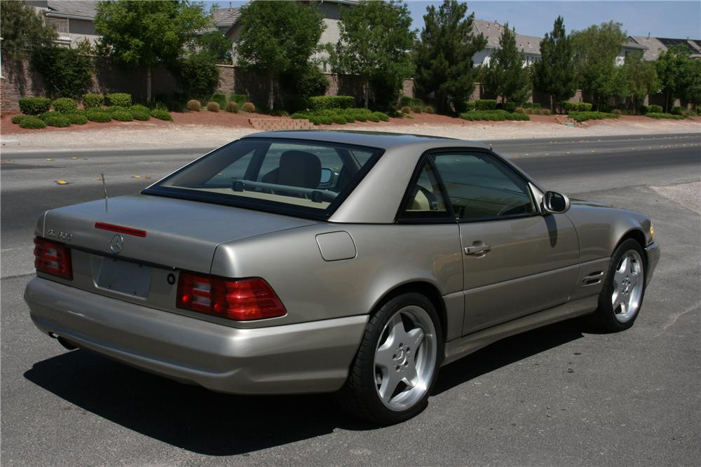 1999 MERCEDES-BENZ SL500 CONVERTIBLE - Rear 3/4 - 130533