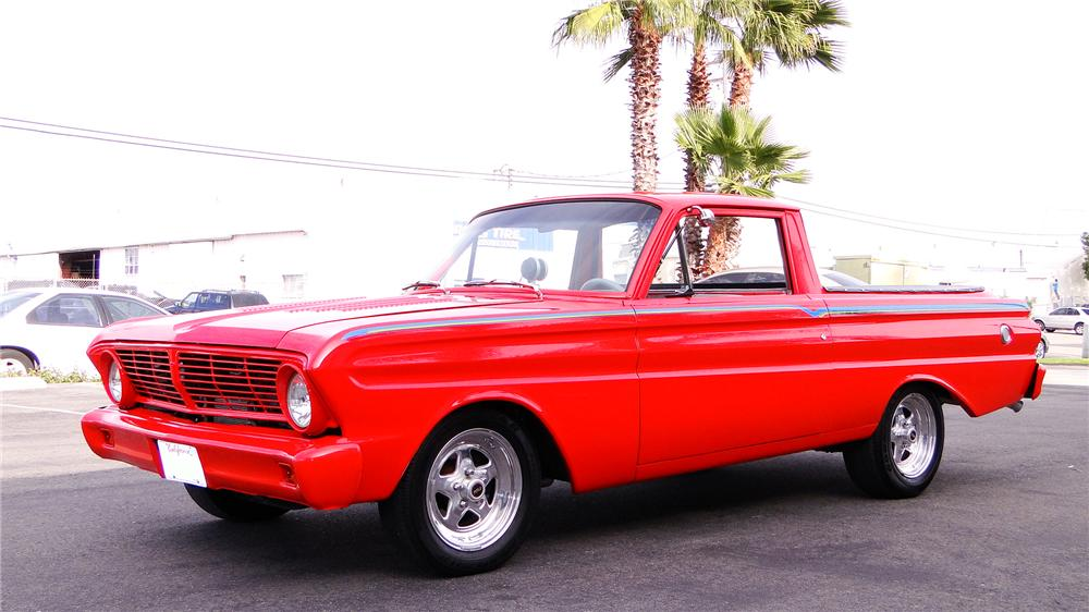 1965 ford ranchero custom pickup front 34 130641