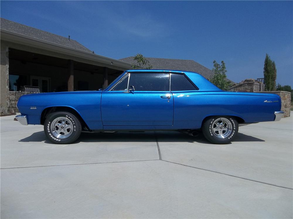 1965 CHEVROLET CHEVELLE CUSTOM 2 DOOR COUPE - Side Profile - 130733