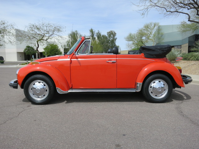1978 VOLKSWAGEN SUPER BEETLE CONVERTIBLE - Side Profile - 130737