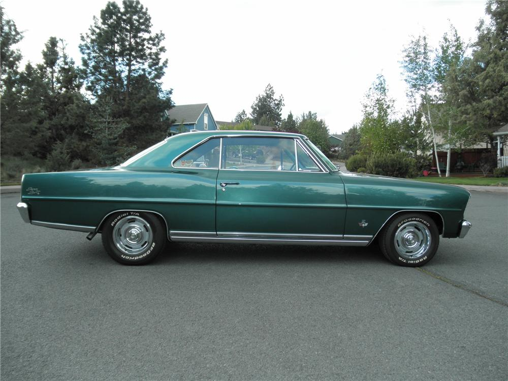 1966 CHEVROLET NOVA SS 2 DOOR HARDTOP - Side Profile - 130739