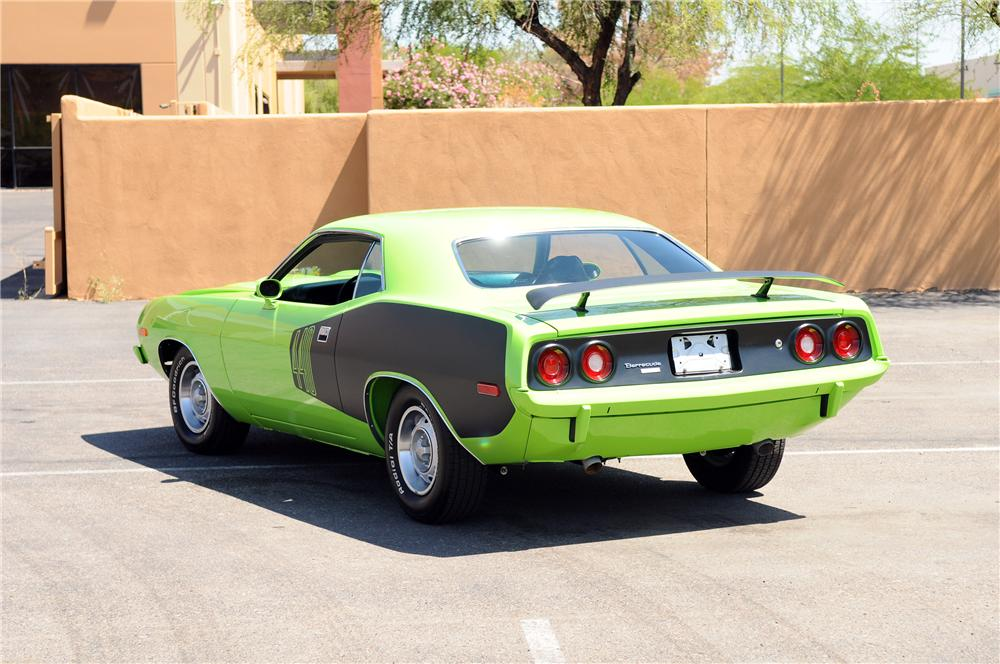 1973 PLYMOUTH CUDA CUSTOM 2 DOOR COUPE - Rear 3/4 - 130778