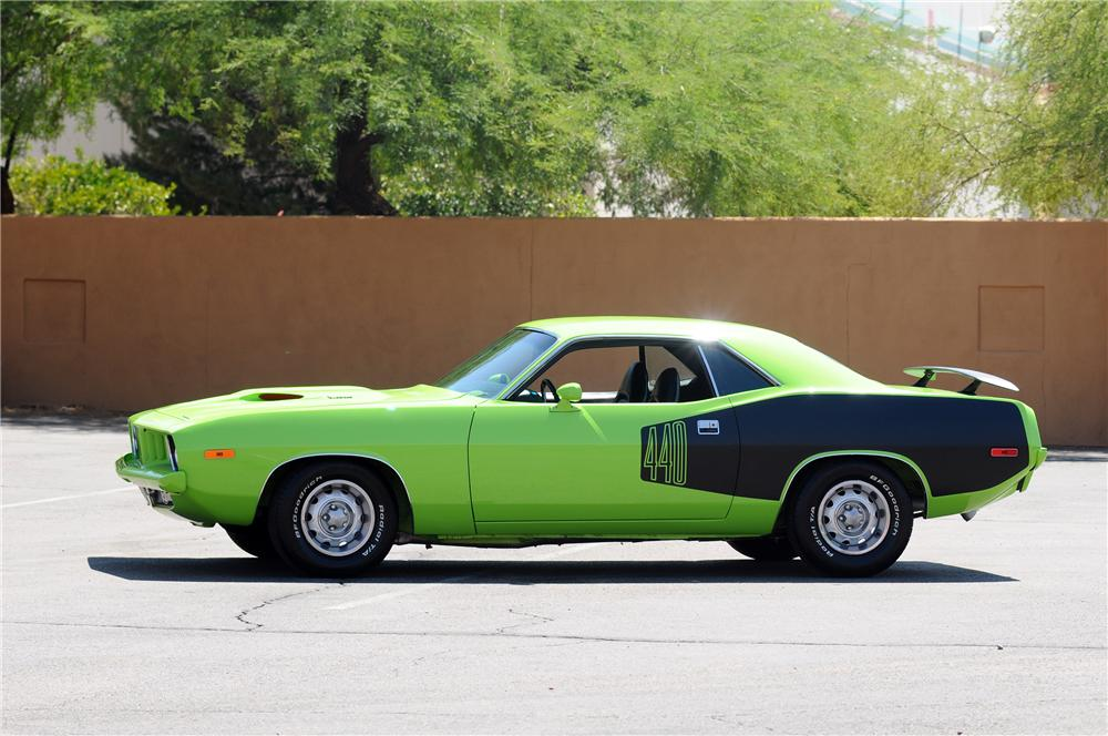 1973 PLYMOUTH CUDA CUSTOM 2 DOOR COUPE - Side Profile - 130778