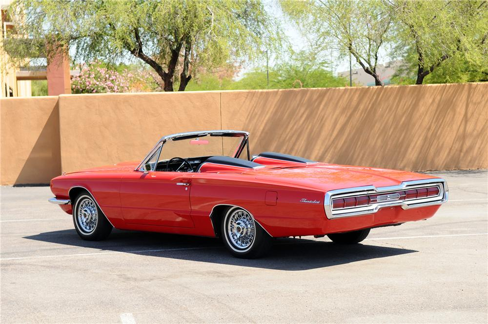 1966 FORD THUNDERBIRD CONVERTIBLE - Rear 3/4 - 130786