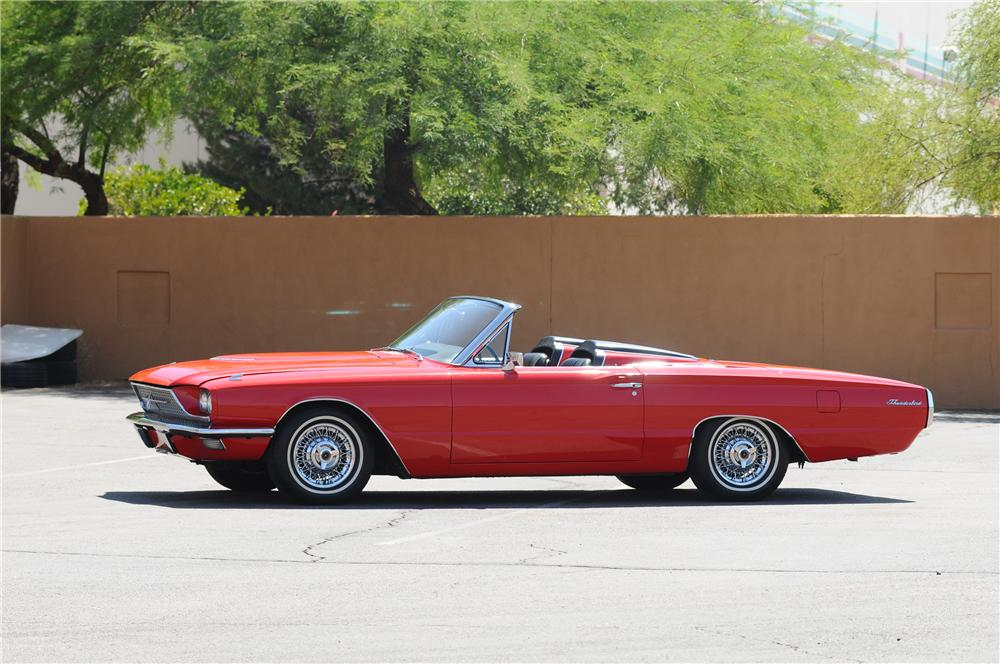 1966 FORD THUNDERBIRD CONVERTIBLE - Side Profile - 130786
