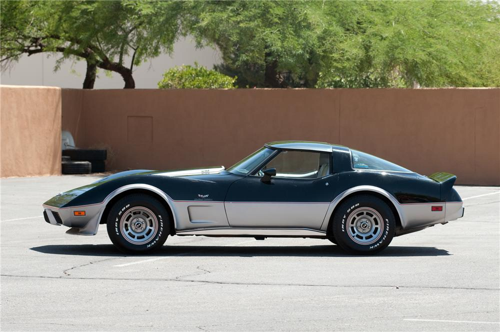 1978 CHEVROLET CORVETTE PACE CAR 2 DOOR COUPE - Side Profile - 130901