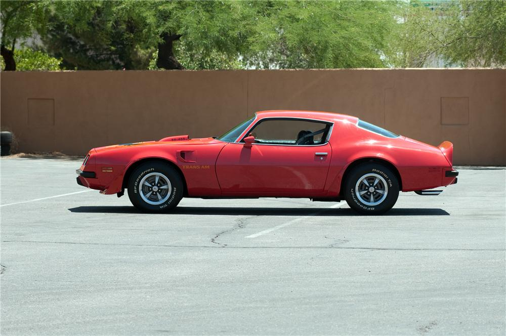 1974 PONTIAC FIREBIRD TRANS AM 2 DOOR COUPE - Side Profile - 130910